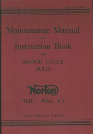 Norton 16H Maintenance Manual