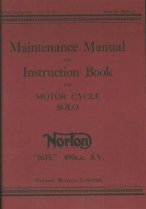 Norton 16H Maintenance Manual