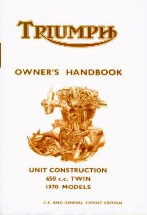 Triumph 650 Handbook 1970 UK Models