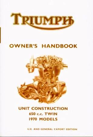 Triumph 650 Handbook 1970 UK Models