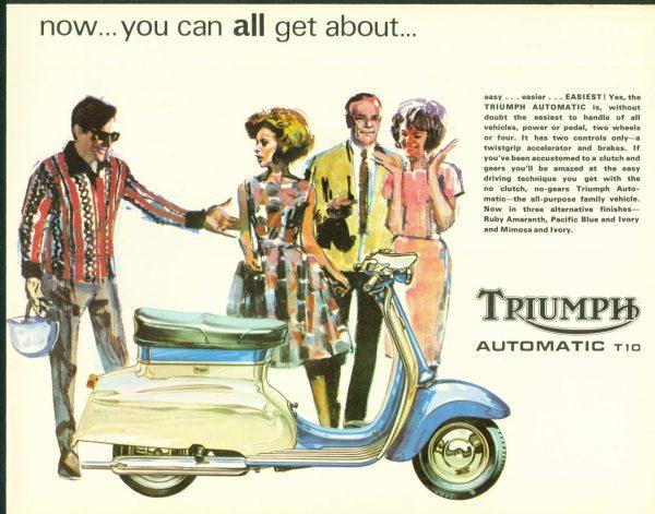 triumph T10 Brochure 1966