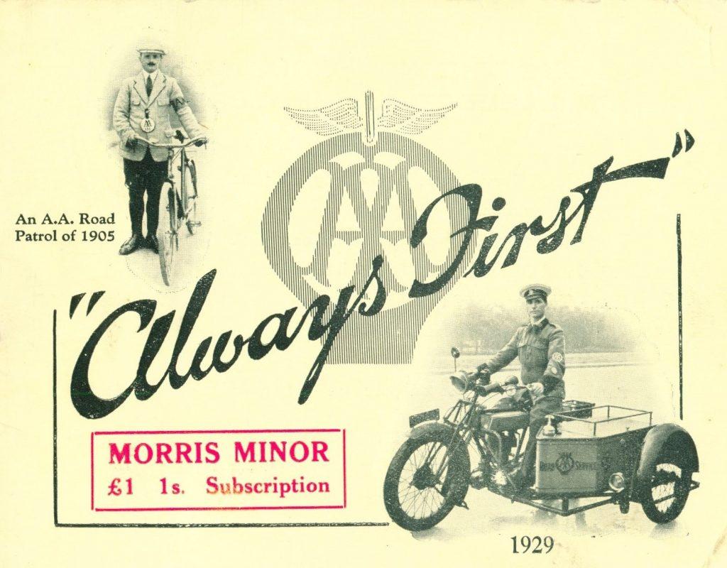 AA Patrol 1929 Booklet