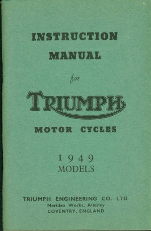 Triumph Motorcycle Manual 1949