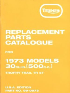 Triumph Trophy Trail And Adventurer Parts book