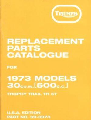 Triumph TR5T Parts Book