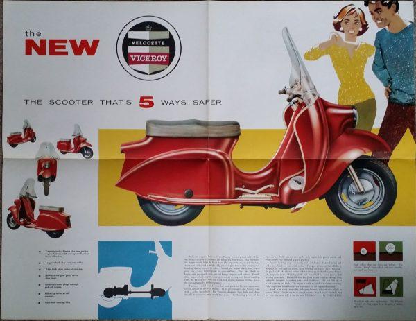Velocette Viceroy Scooter Brochure Original