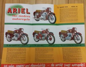 Ariel Red Hunter Square 4 Motorcycle Brochure 1959