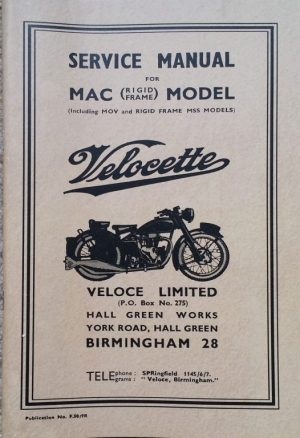Velocette MAC Manual