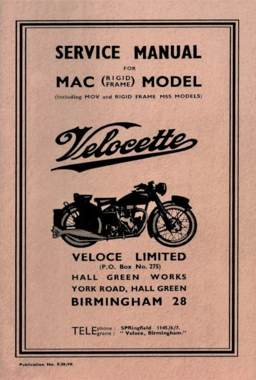 Velocette MAC Service Manual