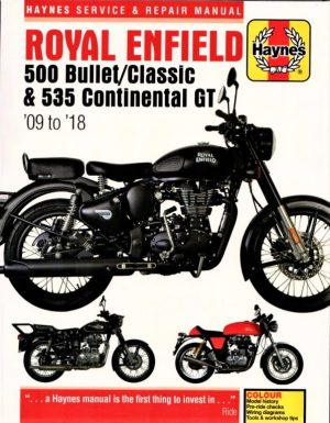 Haynes Manual For Royal Enfield 535 Continental GT, Bullet and Classic, Electra