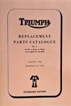 Triumph 650 parts book standard 1968