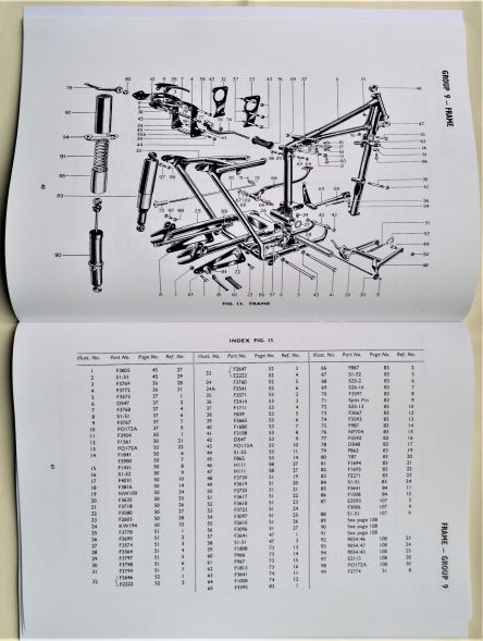 Triumph Motorcycle Frame 1955