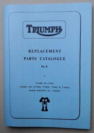 Triumph 350 500 parts Book No 8 1966